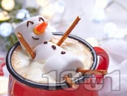 Домашен горещ шоколад с маршмелоу подходящ за деца (за Коледа или Нова Година) - снимка на рецептата